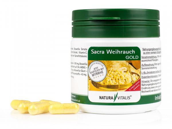 Sacra Weihrauch GOLD + Myrrhe - 120 Kapseln