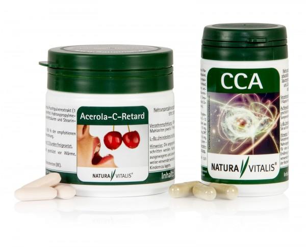 Cell-Protect-Set: Acerola-C-Retard & CCA Antioxidantien