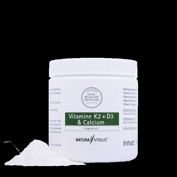 Vitamin K2 + D3 & Calcium - HOCHDOSIERT - 150g