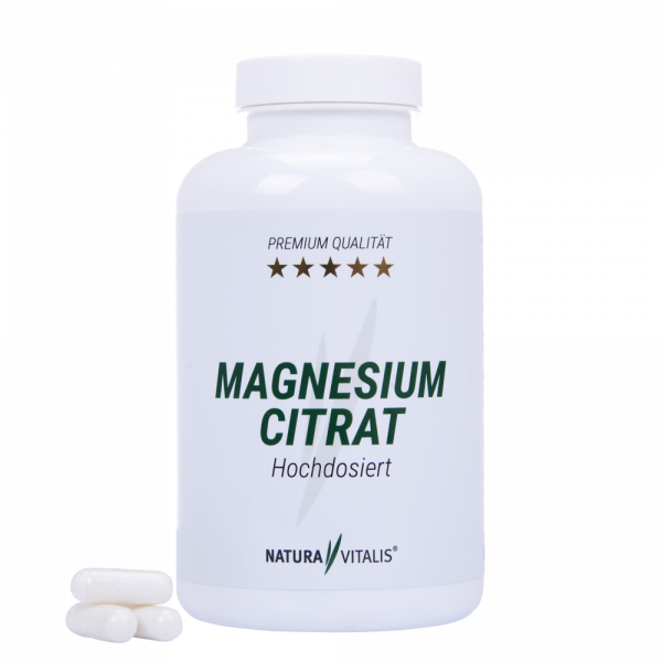 Magnesium Citrat hochdosiert - 210 Kapseln