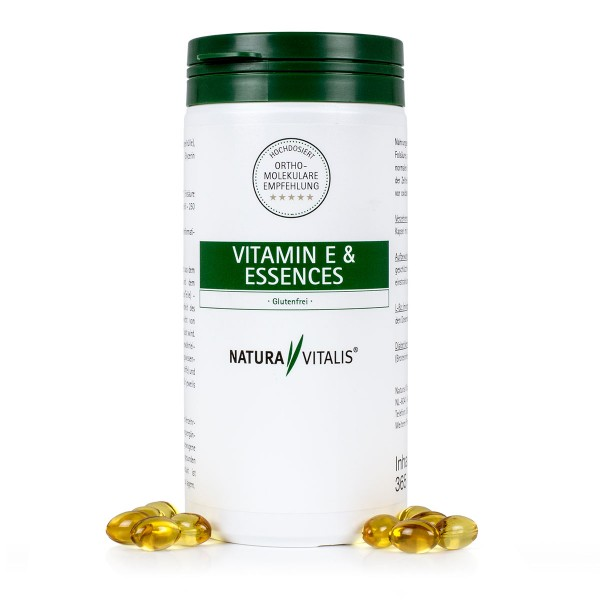 Vitamin E & Essences - 365 Softgels für 1 Jahr