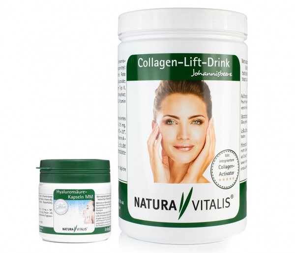 Beauty-Duo: Hyaluronsäure MM & Collagen-Lift-Drink