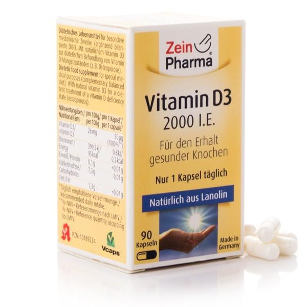 Vitamin D3 Kapseln 2.000 I.E. 90 Kapseln