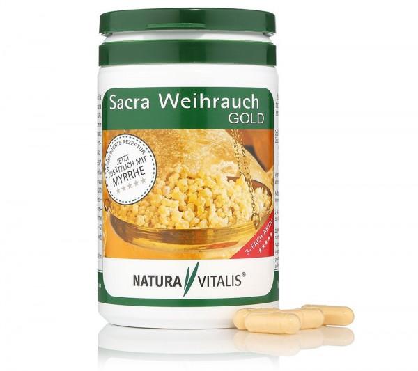 Sacra Weihrauch GOLD plus Myrrhe - 200 Kapseln